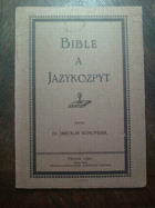 Bible a jazykozpyt.